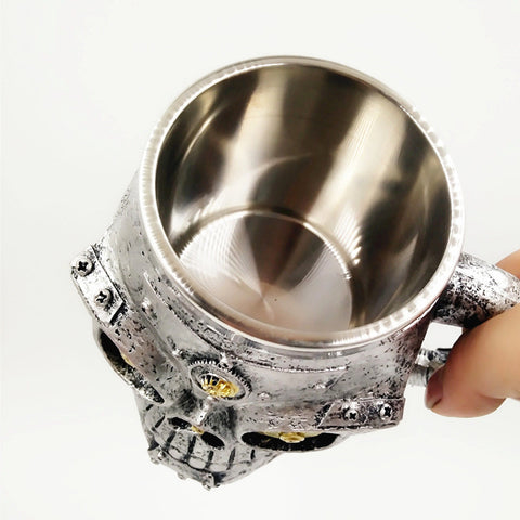 Image of Mechanic Steampunk Skull Mug