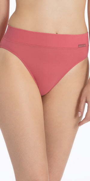 Calida Elastic Trend High Waist Brief Panties in Garnet Rose (21822)