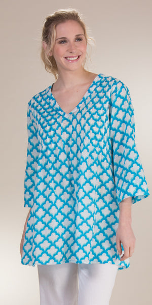 Peppermint Bay Allure Cotton Tunic/Beach Cover Up