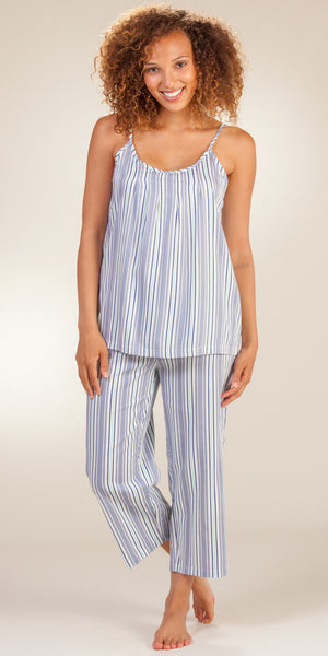 Jockey Cotton-Rich Striped Cami & Capri Pajama Set