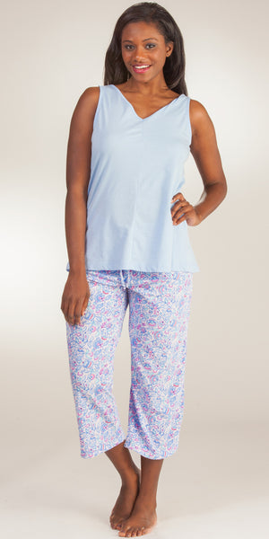 Jockey Tank & Capri Cotton-Rich Pajama Set