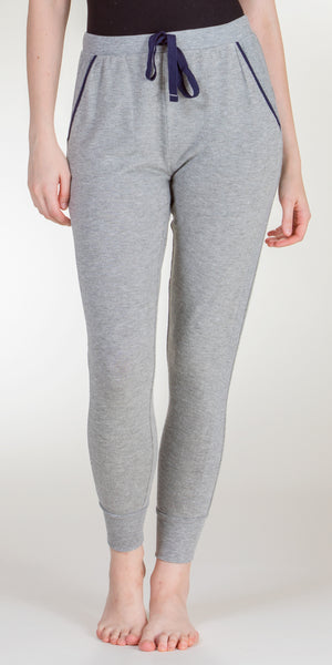 Jane and Bleecker Poly/Rayon Long Pajama Pants in Gray