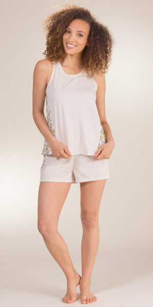Jane and Bleecker Cotton-Poly Tank and Boxer PJ Sets