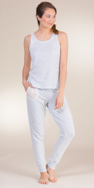 Jane and Bleecker Cotton Blend Tank Top & Pant PJ Set