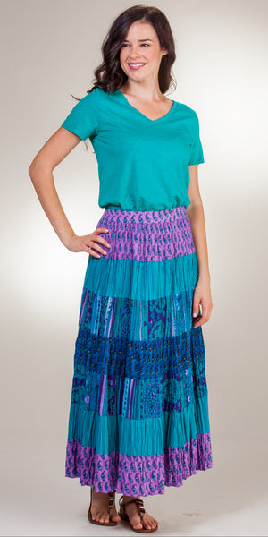 Phool 100% Cotton Crinkle Maxi Skirt