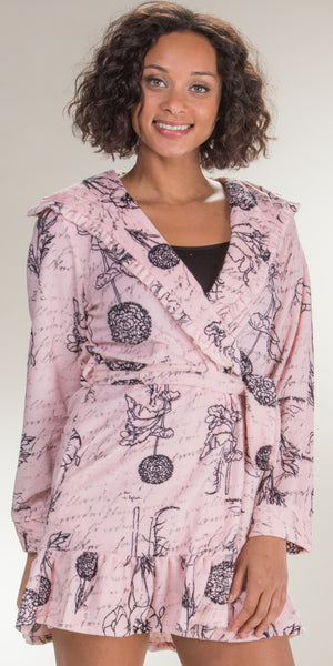Betsey Johnson Vintage Terry Hooded Robe (734915)
