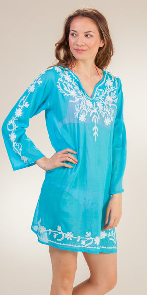 Highness Long Sleeve Cotton Beach Tunic