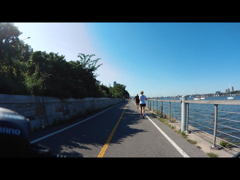 River Side Park, NY, New York (two runners), 2018