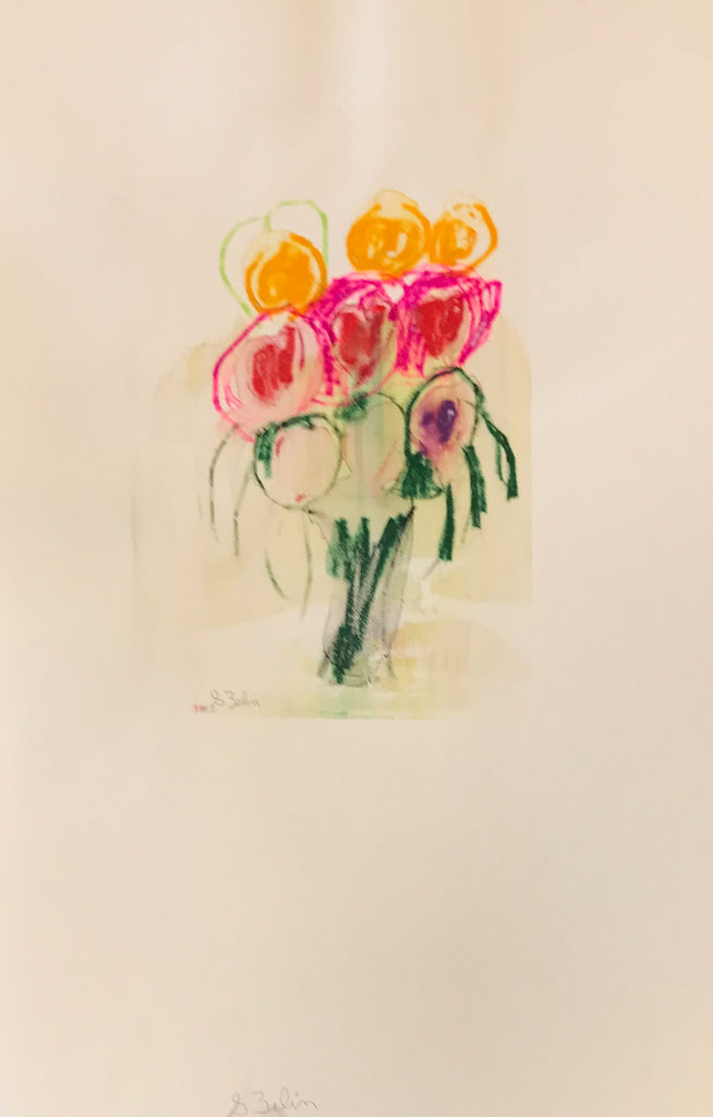 Untitled(floral monoprint), 2017