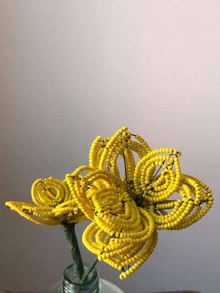 Beaded flowers (yellow 2)