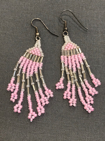 Beaded Earrings (light pink)