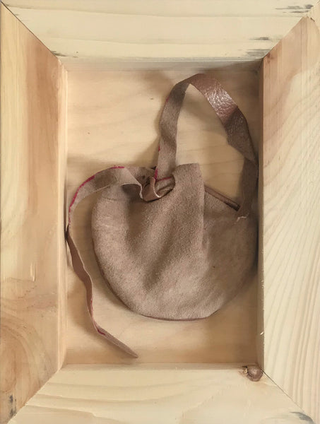 Medicine Bag (one side pearlescent pink, one side tan)