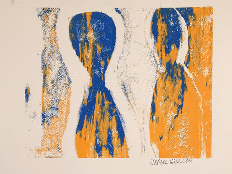 Untitled (gold blue)