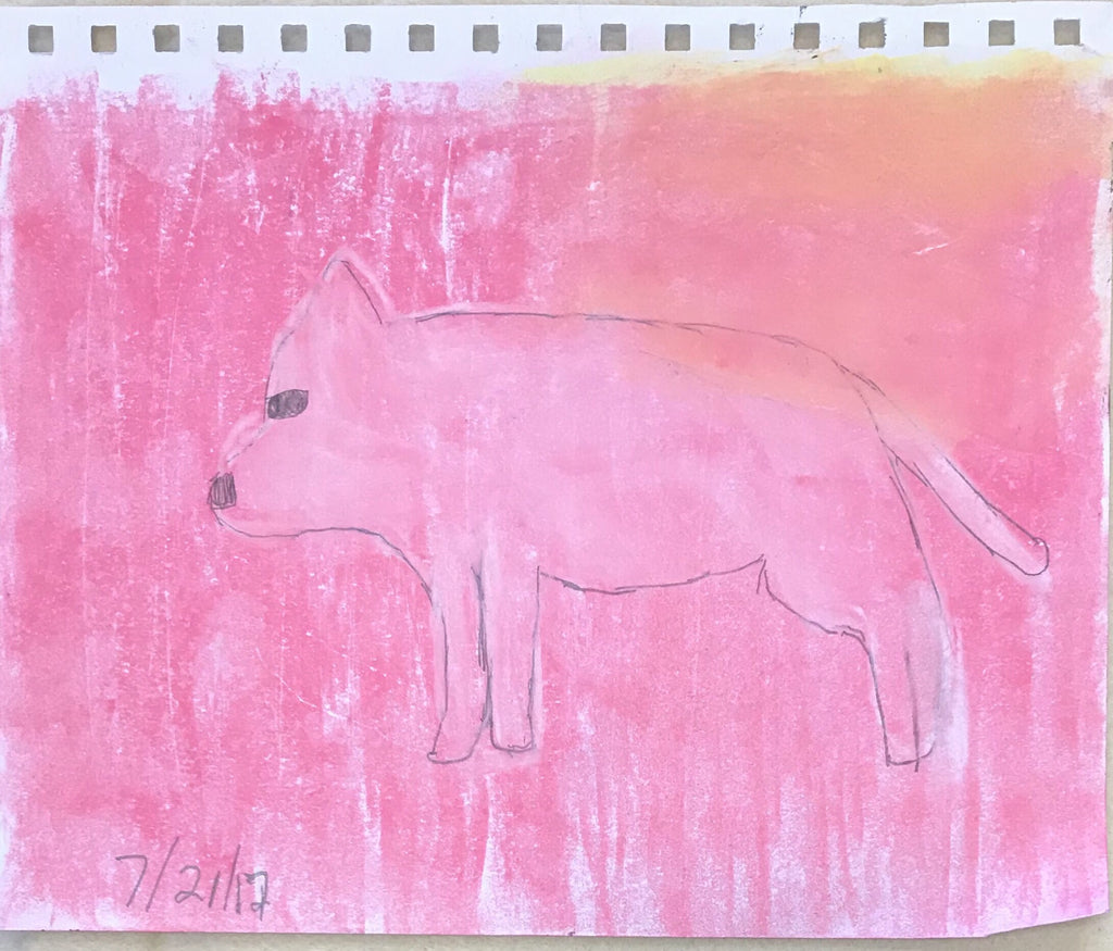 Unknown Pink Animal, 2017 (framed)