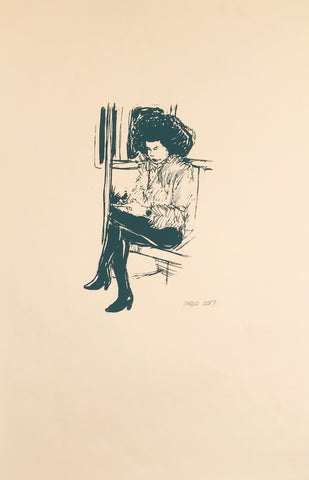Untitled (woman on subway print)