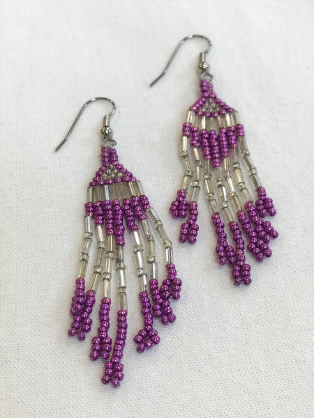 Beaded Earrings (purple)
