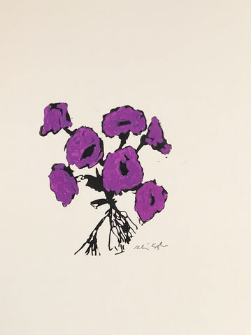 Untitled (floral royal purple)