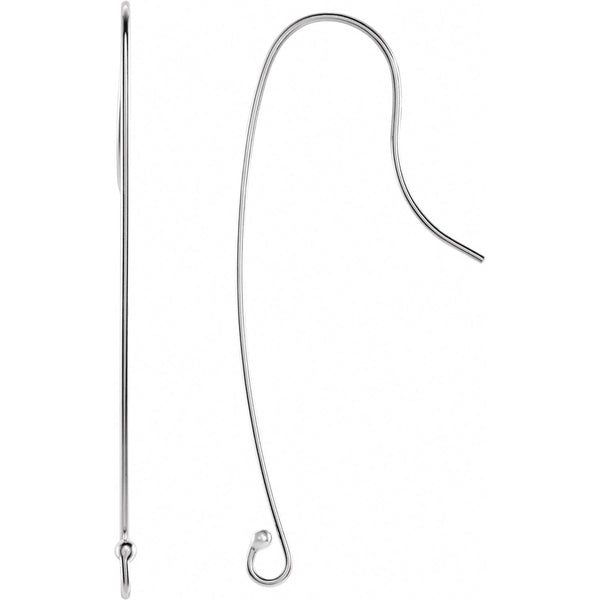 Sterling Silver Long Wire Earring Top