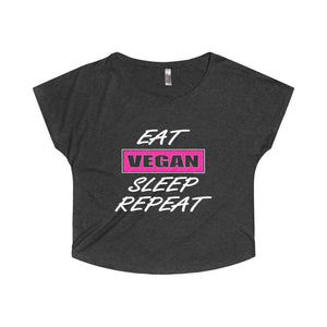Eat VEGAN Sleep Repeat Trendy Tee