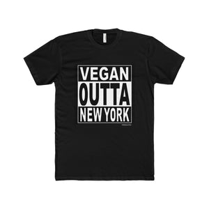 Vegan Straight Outta NY Premium Fitted Short-Sleeve Crew Neck Tee