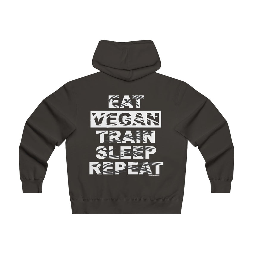 Eat Sleep Vegan Lightweight Zip Hoodie