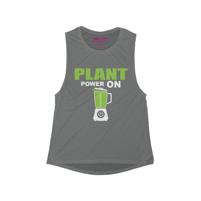 Plant Powered Flowy Muscle Tank
