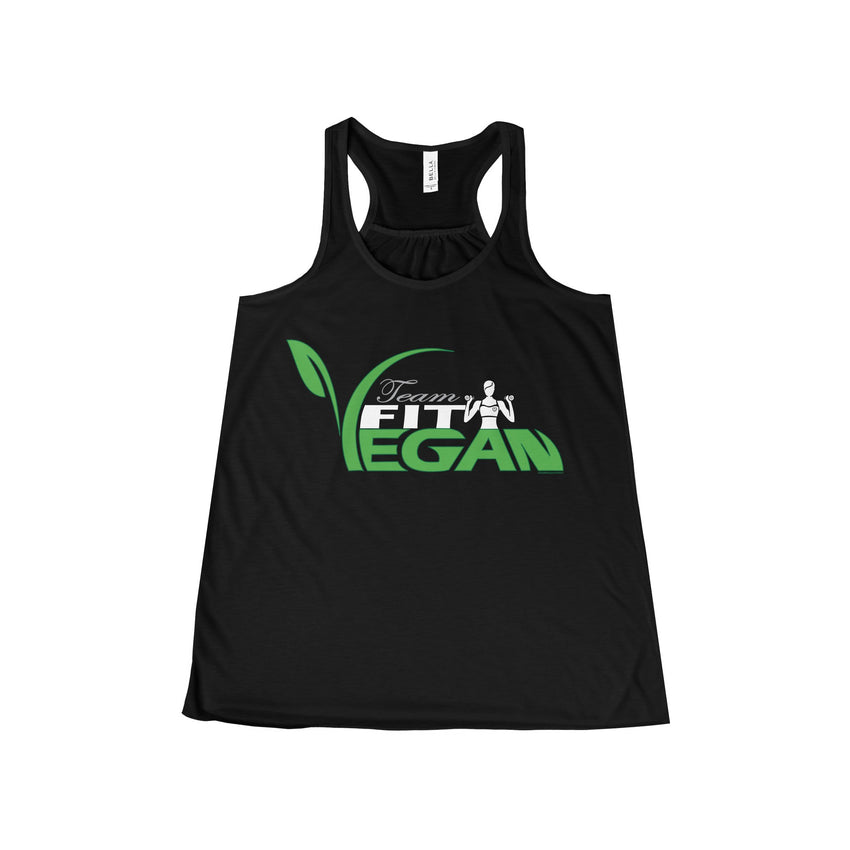 Miss Fit Vegan Team Flowy Racerback Tank