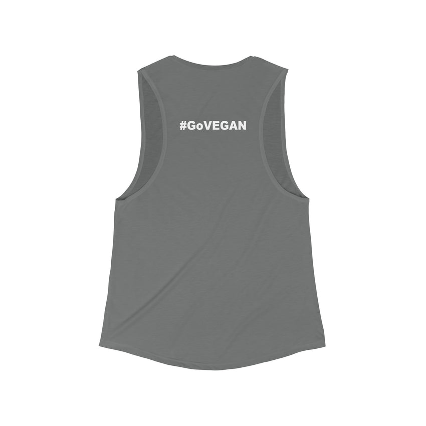 Compassion Over Perception Flowy Scoop Muscle Tank