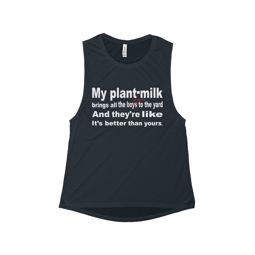 Plant-Milk Flowy Scoop Muscle Tank