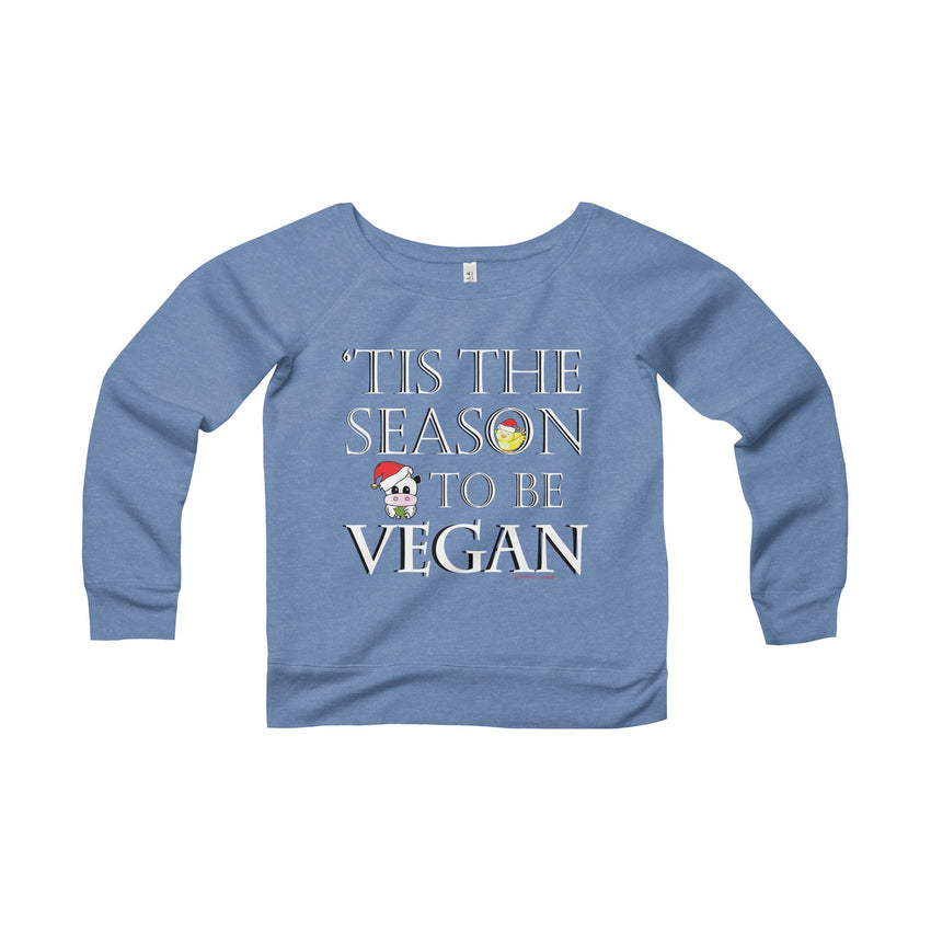 Holiday Vegan Women's Trendy Wide Neck Sweatshirt