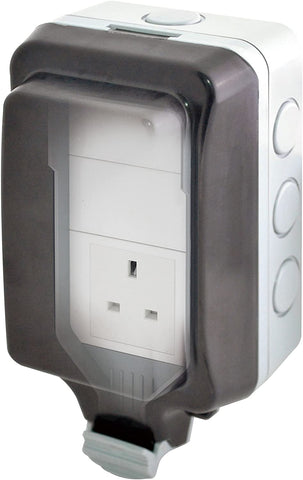 13A Extra large weatherproof socket (For hot tub plug RCDs)