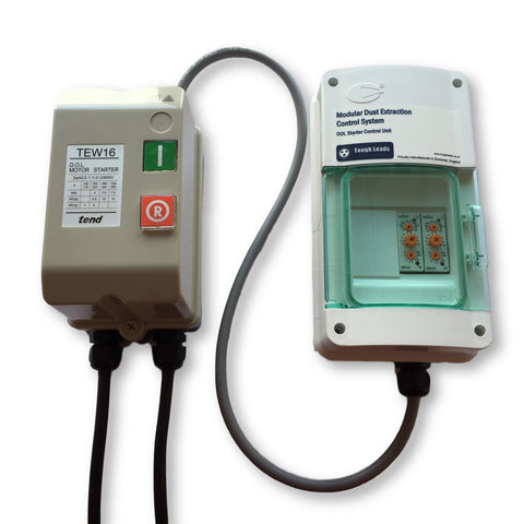Dust extractor control unit for DOL motor starters