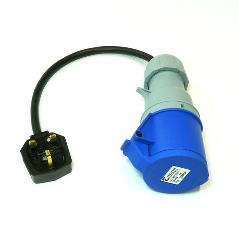 Heavy duty portable appliance testing (PAT) adaptor 230v 32A socket