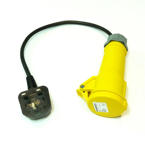 Portable appliance testing (PAT) adaptor 110v 16A socket