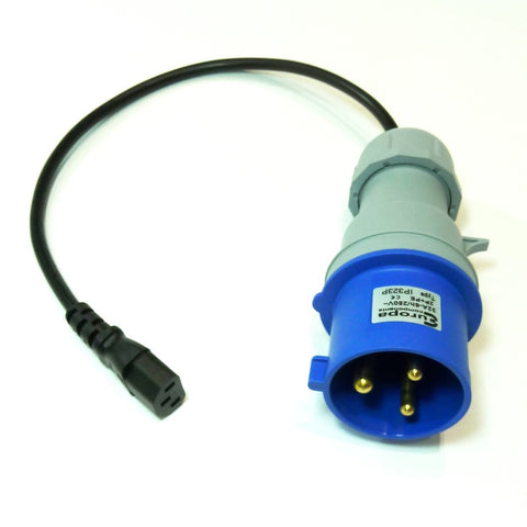 Portable appliance testing (PAT) extension lead adaptor 230v 32A plug to IEC socket