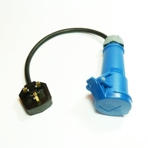 Heavy duty portable appliance testing (PAT) adaptor 230v 16A socket