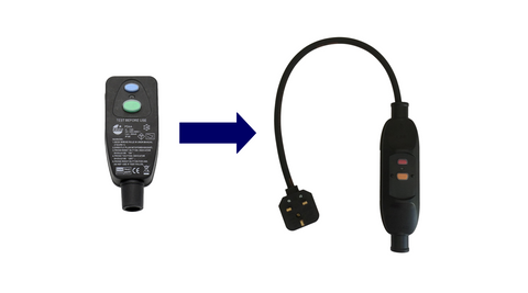 Conversion kit to replace RCD plugs with an in-line RCD