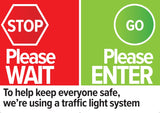 COVID19 shop retail footfall capacity remote control traffic light system spare sign A2