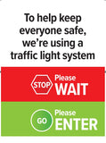 COVID19 shop retail footfall capacity remote control traffic light system spare sign A4