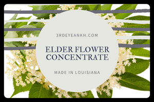 8 oz Elderflower Decoction