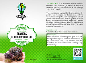 BACKORDERED DUE TO COVID 19 DELAYED SHIPPING TIME:Irish Sea Moss (Chondrus Crispus) & Bladderwrack Gel (Net Wt. 24oz)