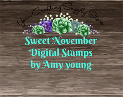 Sweet November Digital Stamps by Amy Young