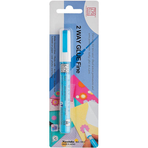 Zig Memory System 2 Way Glue Pen FINE Tip