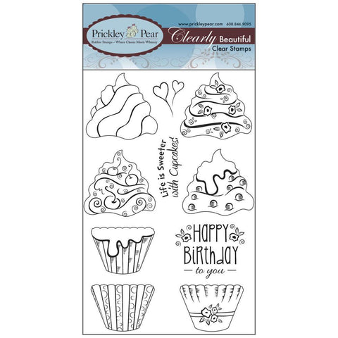 Prickley Pear Clearly Beautiful Stamp Set-Build A Cupcake