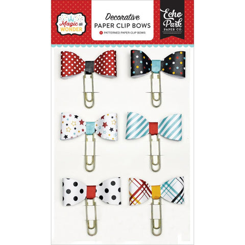 Echo Park Magic and Wonder-Decorative Paper Clip Bows