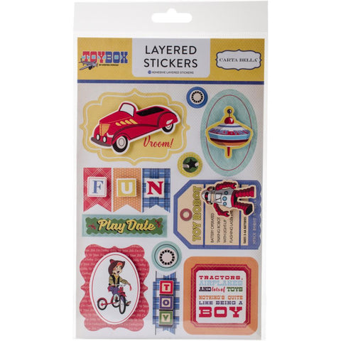 Carta Bella Toy Box-Layered Stickers