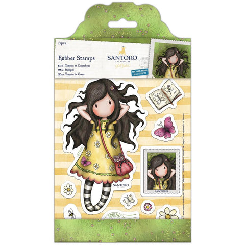 Docrafts Gorjuss Girls Stamp-Spring At Last
