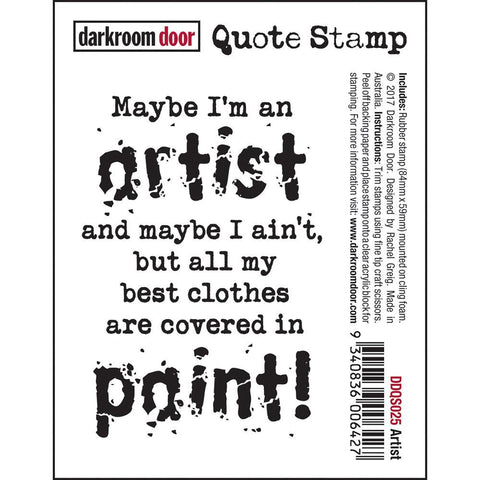 Darkroom Door Sentiment Stamp-Artist