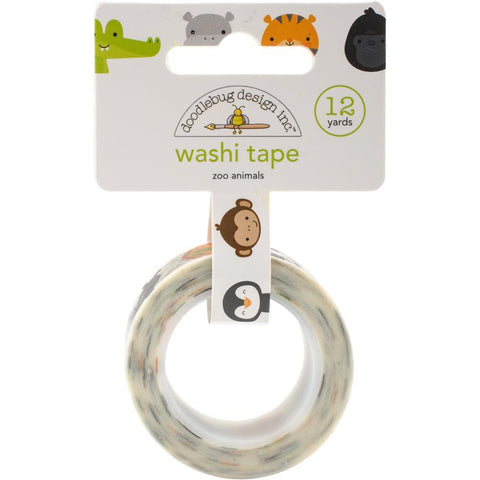 Doodlebug Design Washi Tape - At The Zoo, Zoo Animals