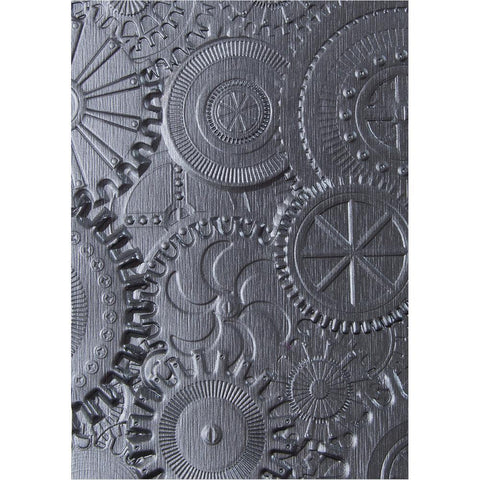 Sizzix 3D Texture Fades Embossing Folder By Tim Holtz-Mechanics